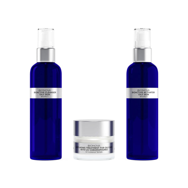 Anti-Aging Discovery Collection for Oily Skin with UV Chromophores | b°n Science