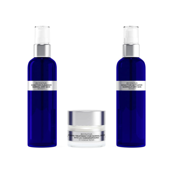 Anti-Aging Discovery Collection for Normal/Dry Skin with UV Chromophores | b°n Science