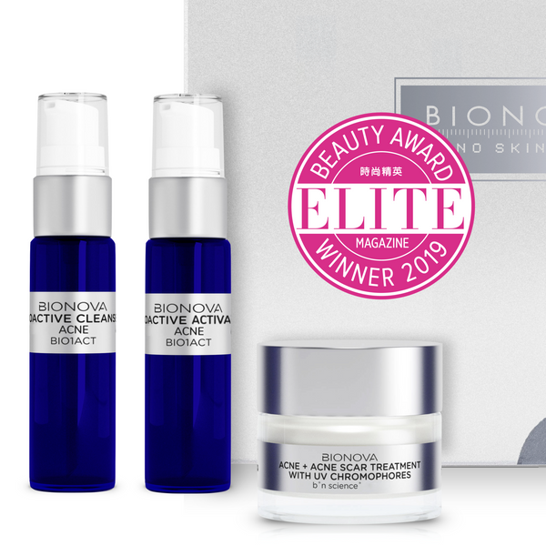 Acne + Acne Scar Discovery Collection with UV Chromophores | b°n Science