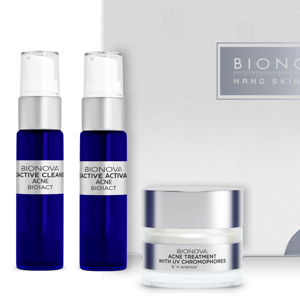 Bionova Acne Discovery Collection Kit with UV Chromophores.