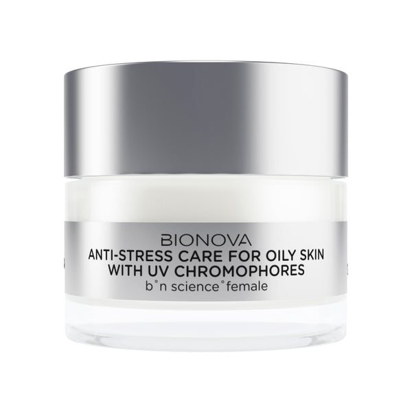 Anti-Stress Care for Oily Skin with UV Chromophores