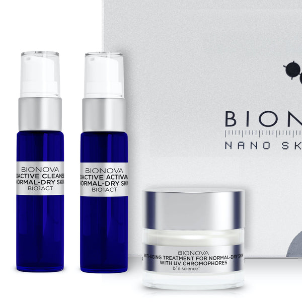 Anti-Aging Discovery Collection for Normal/Dry Skin with UV Chromophores | b°n Science | Male