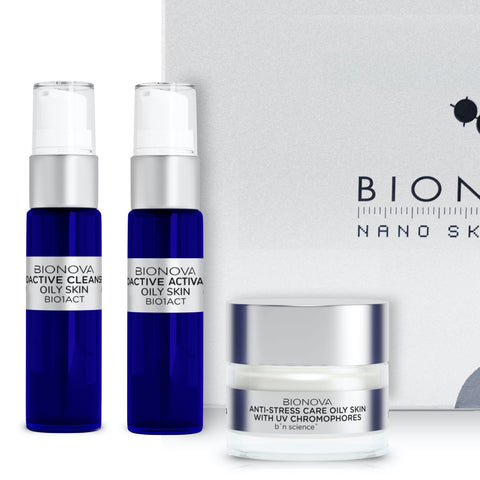 Anti-Stress Discovery Collection for Oily Skin with UV Chromophores | b°n Science | Male