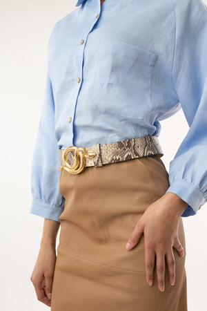 Milo Leather Belt Python - [www.unorthodox-boutique.com]