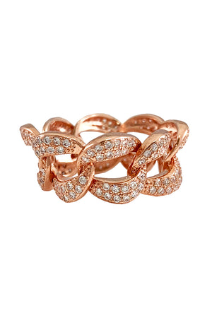 Cuban Link Ring Rose Gold - [www.unorthodox-boutique.com]