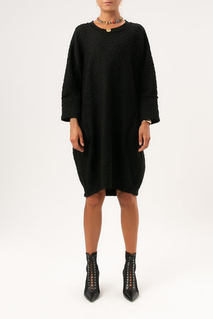 Kida Relief Dress - [www.unorthodox-boutique.com]