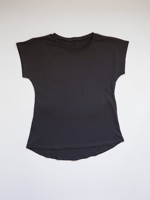 The Perfect Tee in Black Organic Cotton