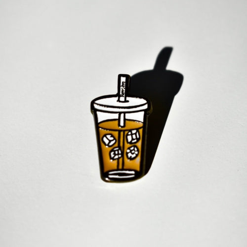 Revolve Iced Coffee Pin