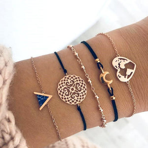 Poptia Lovely Pattern Five-Piece Bracelet