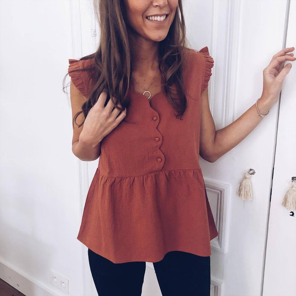 Poptia Fit And Flare Lovely Shirt
