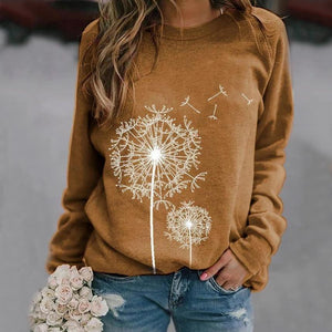 Poptia Casual Crew Neck Long Sleeve Sweatshirt