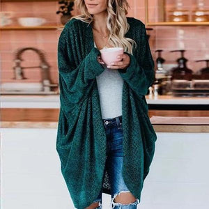 Poptia Casual Plain Long Sleeve Cardigan