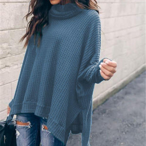 Fashion Loose High Neck Long Sleeve Sweater
