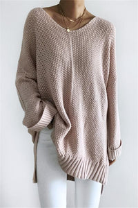 Poptia Casual Loose Long Sleeve Knit Sweater