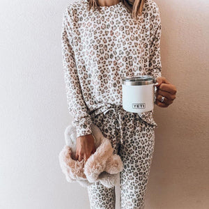 Poptia Well Rested Leopard Print Set