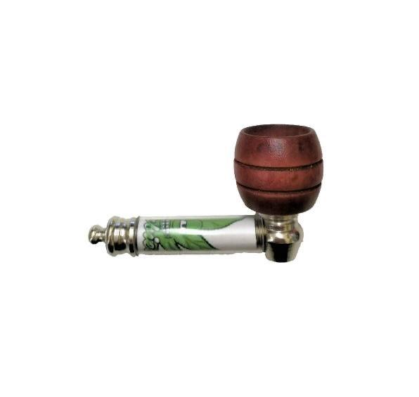 Herbies Metal Pipe with Wooden Bowl