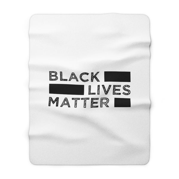 Black Lives Matter Sherpa Fleece Blanket