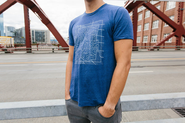 Travel West Tee-Navy