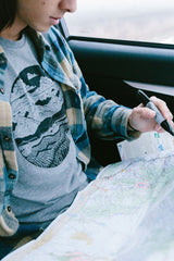 Mountain Range Tee - Gray Speckled