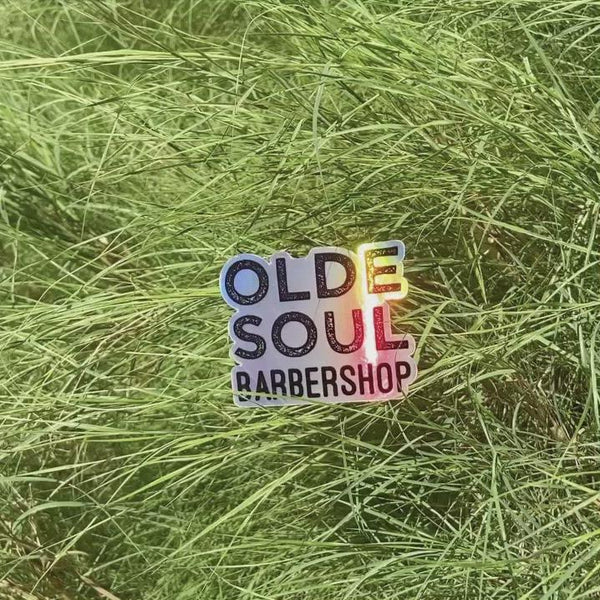 Olde Soul Barbershop Holographic Sticker