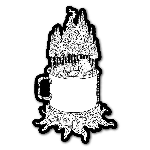 Camping Cup Sticker