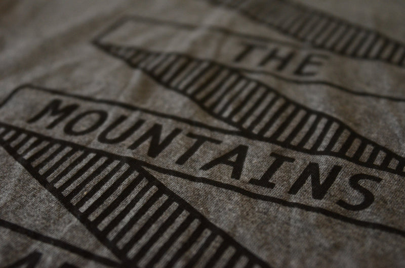 The Mountains Tee-Gray