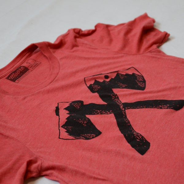 Axe Tee - Red Triblend