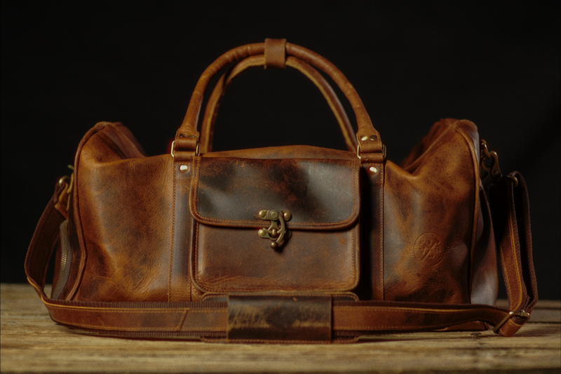 Buffalo Leather Duffle Bag by Vintage Gentlemen - Younis & Sons