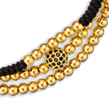 Gold Macrame Stack by Vodrich