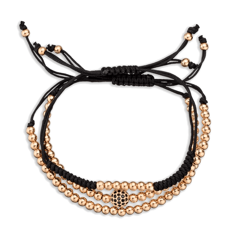 Rose Gold Macrame Stack by Vodrich