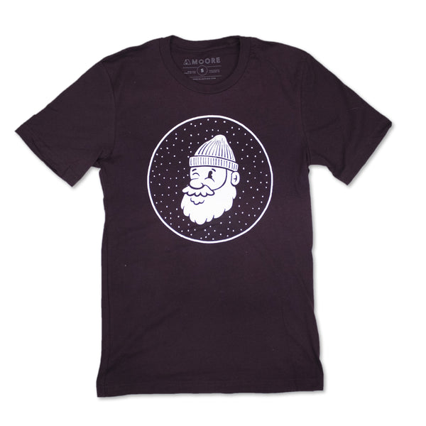 Mr. Winter Tee-Deep Maroon