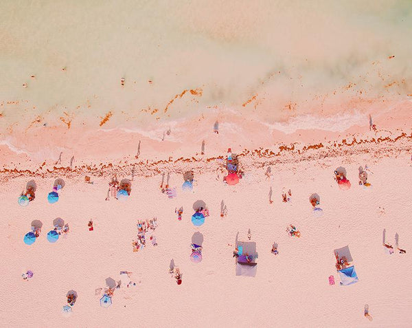 Large Beach Afternoon Mood Aerial Fine Art Photography Print by Roman