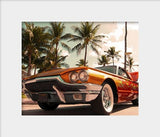 Classic Muscle Car on Ocean Drive Art Print