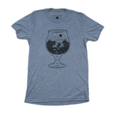 Tulip Glass Triblend Tee - Denim