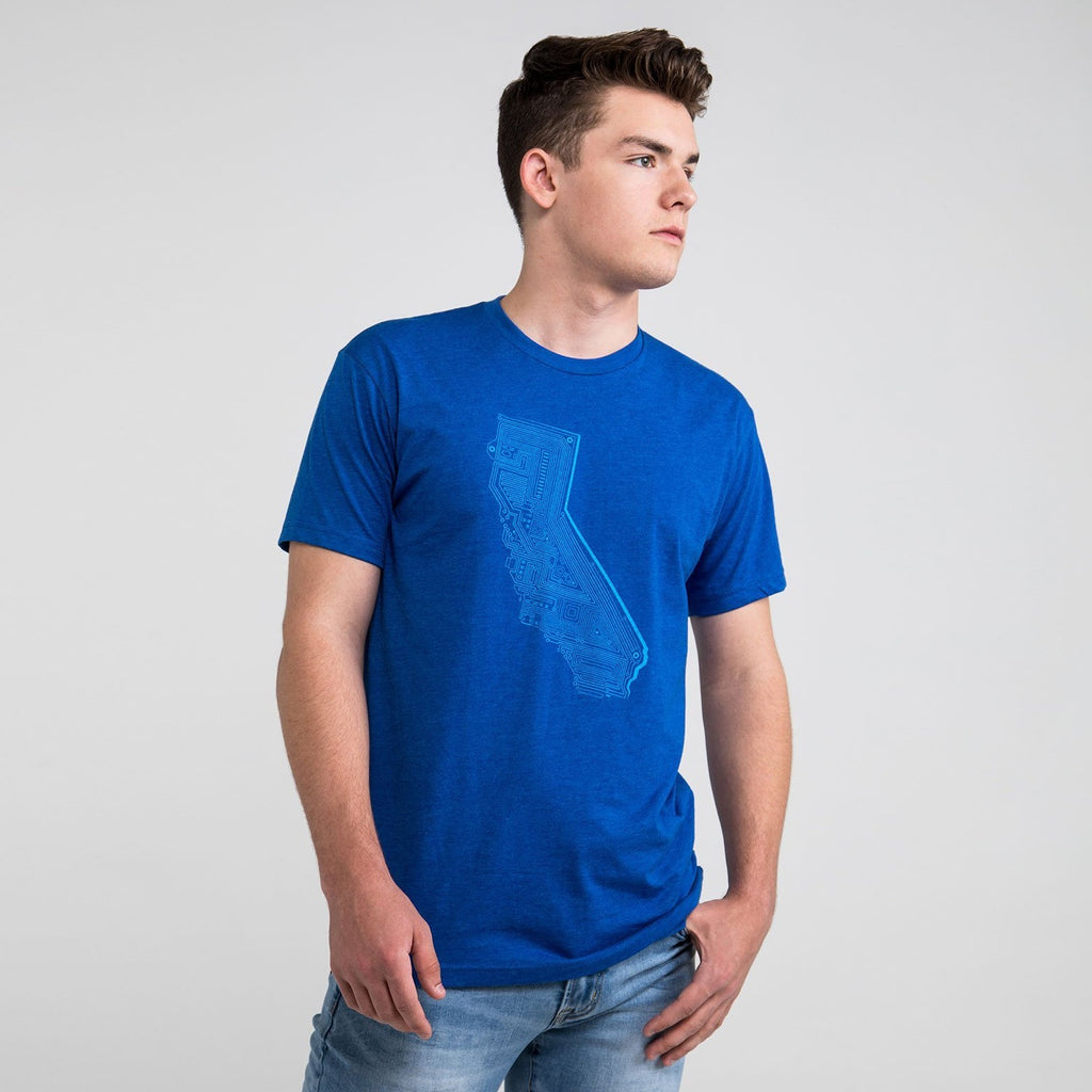 Cali Tech T-shirt - Royal Blue