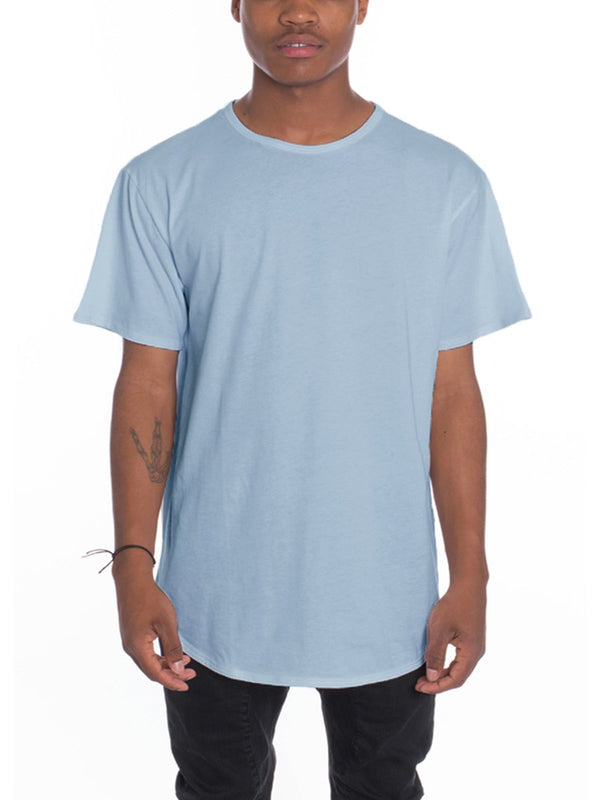 CLASSIC SCALLOP TEE- HEATHER BLUE