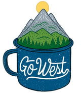 Camp Cup Go West Sticker