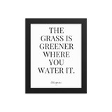 Grass is greener Framed poster