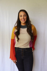 Chip Off The Colorblock Sweater, Multi