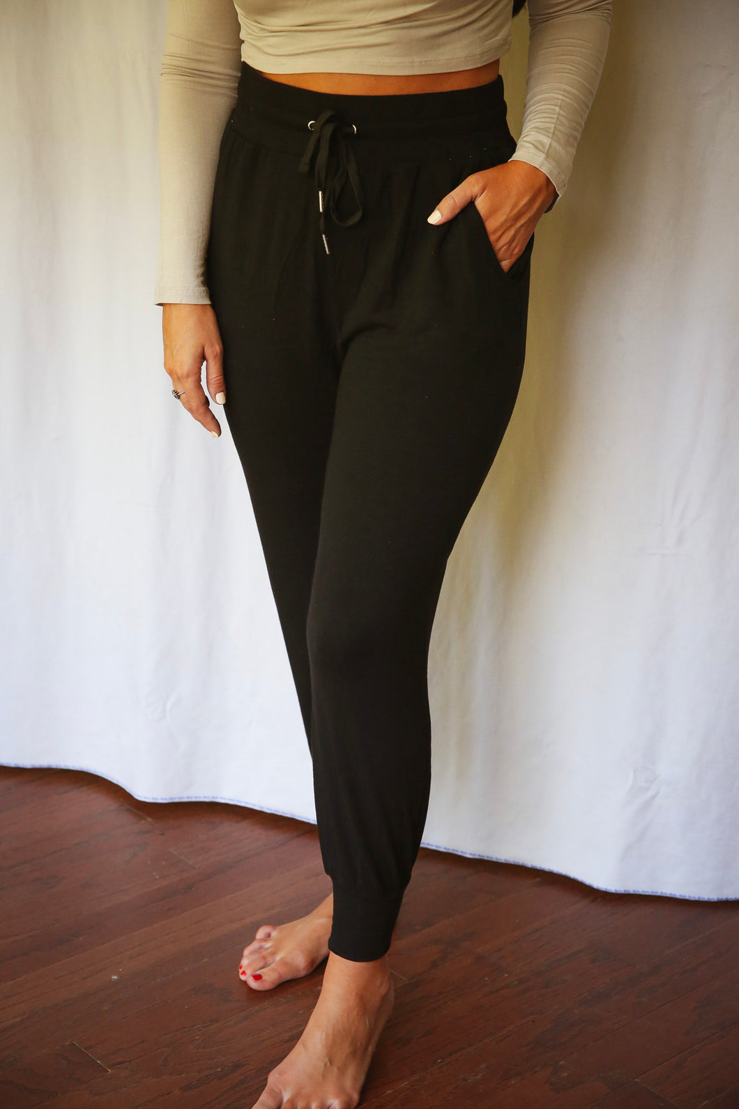 Luxurious In Leisure Joggers, Black