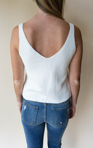 Summers In Avalon Top, Ivory