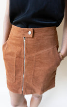 Load image into Gallery viewer, Corduroy I Think That I'm In Love With You Skirt, Rust