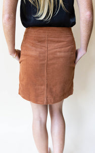 Corduroy I Think That I'm In Love With You Skirt, Rust