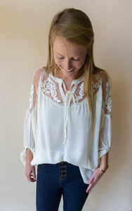 The Maggies Top, Cream