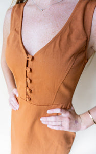 The Barn Thrill Dress, Rust