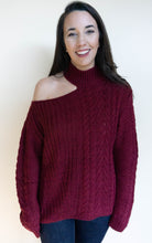 Load image into Gallery viewer, Death To Demure Sweater, Wine