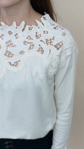 Dawn of Spring Top, Ivory