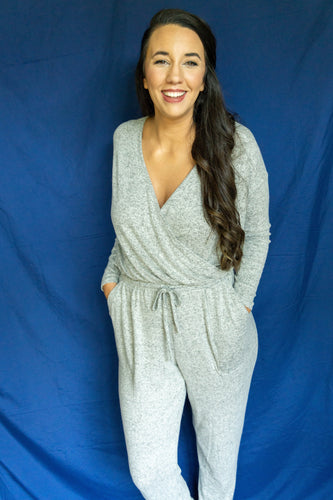 Where Ya Goin' Jumpsuit, Heather Gray