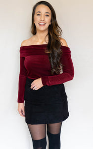 On Vixen Top, Burgundy