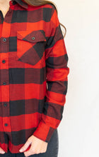 Load image into Gallery viewer, Buffalo Guys & Gals Top, Red/Black